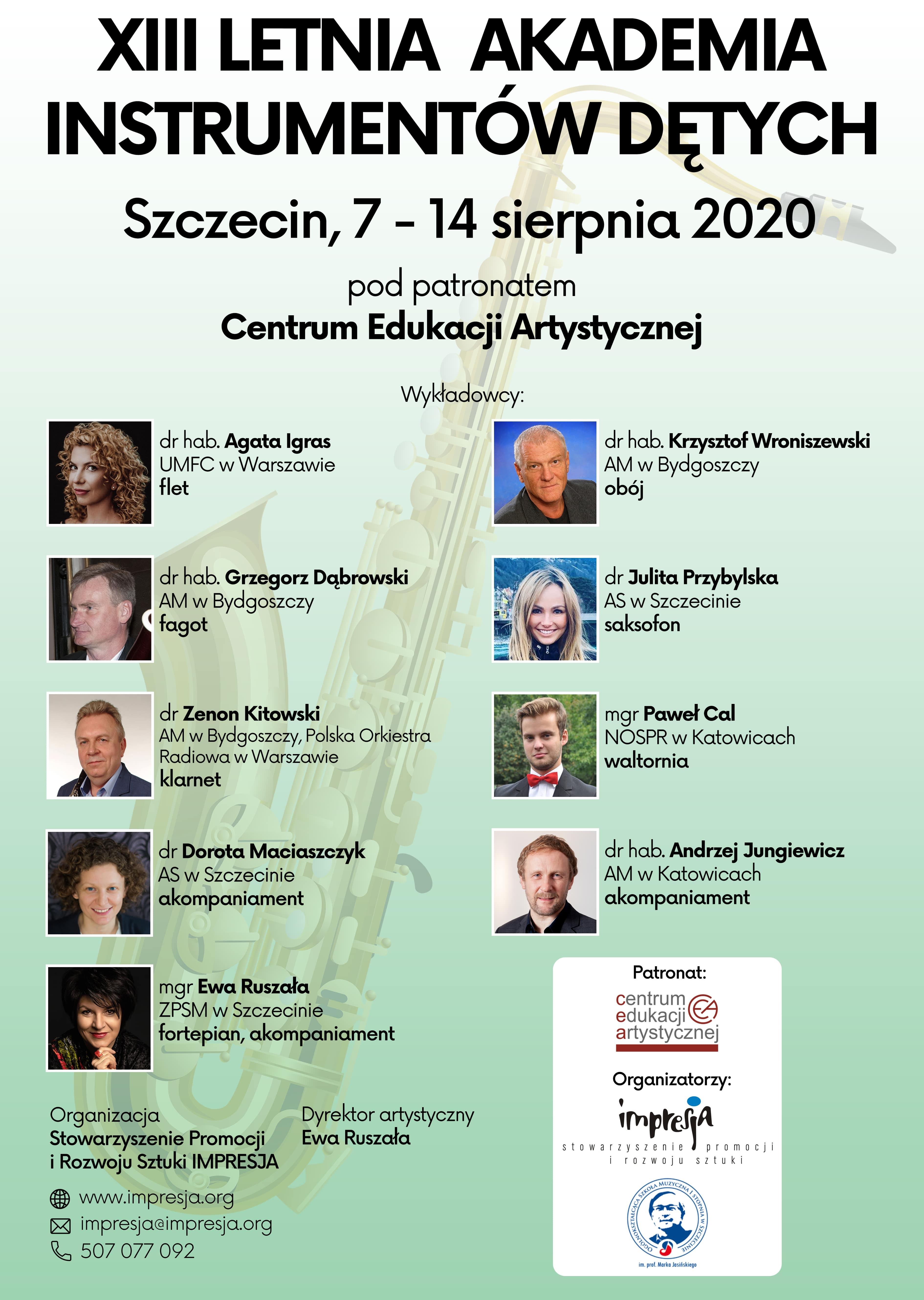 Letnia Akademia Instrumentów Dętych 2020